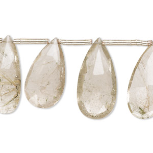 Beads Grade B Golden Rutilated Quartz
