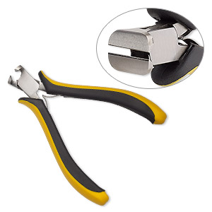 pliers, ohm, nipper, carbon steel and rubber, yellow and black, 4-1/2 inches. sold individually.