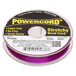 powercord, elastic, purple, 0.4mm, 3.5-pound test. sold per 25-meter spool.
