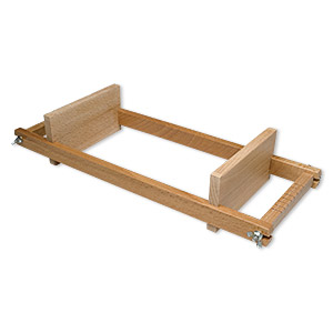 precision bead loom, beechwood, 12-1/2 x 5 x 3 inches with 7-inch loom length. sold individually.
