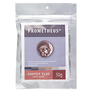 prometheus copper clay, rapid and low fire. sold per 50-gram pkg.