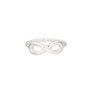 riing, sterling silver, 7mm wide with infinity design and twisted band, size 9. sold individually.