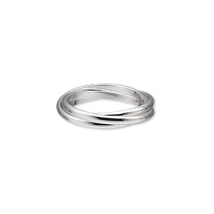 ring, sterling silver, 2mm wide, size 7. sold individually.