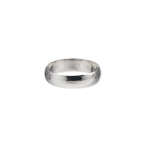 ring, sterling silver, 4mm wide, size 6. sold individually.