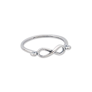 ring, sterling silver, 5mm wide with infinity design, size 10. sold individually.