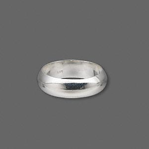 ring, sterling silver, 6mm wide, size 7. sold individually.