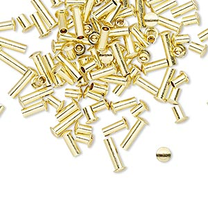 rivet mix, brass, 3.5x3mm-7.5x3mm with 1.9mm shank. sold per pkg of 100.
