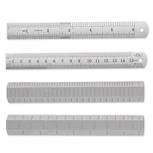 ruler and roller set, plastic and stainless steel, silver and grey, 6-1/4 x 1-inch hexagon roller and 6-inch ruler. sold per set.
