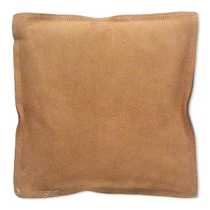 sandbag, heat-, flame- and spark-resistant leather suede, 10x10 inches. sold individually.