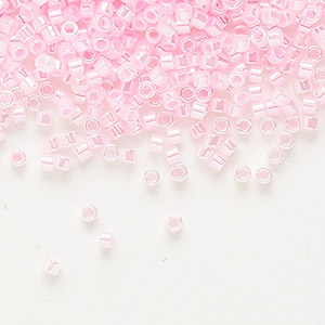 seed bead, delica, glass, ceylon color-lined cotton candy, (db244), #11 round. sold per 250-gram pkg.