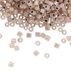 seed bead, delica, glass, copper-lined opal, (dbl0191), #8 round. sold per 50-gram pkg.