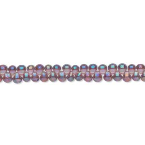 seed bead, miyuki, glass, transparent rainbow lavender, (dp256), 3.3x2.8mm mini fringe. sold per 250-gram pkg.