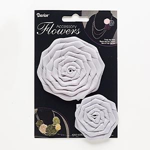 sew-on component, satin, grey, 1-3/4 x 1-3/4 to 2x2-inch and 3x3 to 3-1/4 x 3-1/4 inch rose. sold per pkg of 2.