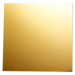 sheet, anodized aluminum, gold, 5-3/4 x 5-3/4 inch square, 26 gauge. sold individually.