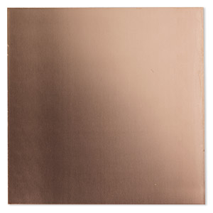 sheet, copper, half-hard, 6x6-inch square, 18 gauge. sold individually.