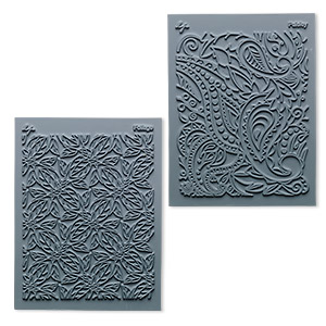 stamp, lisa pavelka, rubber, grey, 4-1/4 x 5-1/2 inches with flow texture. sold per pkg of 2.