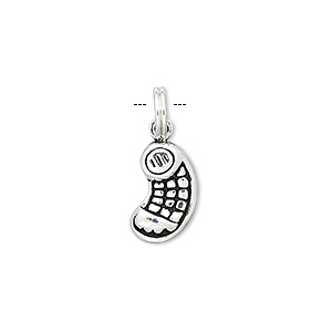 sterling silver cellular phone charm, approximately 11x16mm. sold individually.