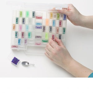 the craft kit company clear plastic organizer case, chrissys, medium, 1-3/4 x 9 x 6-1/2 inches. sold individually.
