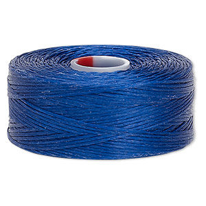 thread, c-lon, nylon, royal blue, size d. sold per pkg of (2) 78-yard bobbins.