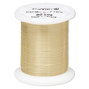 thread, kevlar, natural, 0.05mm diameter, 6-pound test. sold per 50-yard spool.