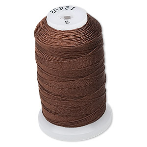 thread, purely silk™, chestnut, size e. sold per 200-yard spool.