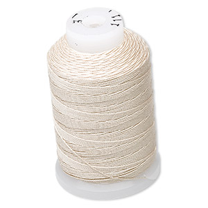 thread, purely silk™, ecru, size e. sold per 200-yard spool.