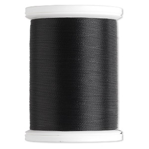 thread, silamide, 2-ply waxed nylon, black, size a, 4-pound test. sold per 900-yard spool.