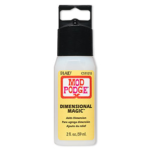 top coat, mod podge dimensional magic™, resin, clear. sold per 2-fluid ounce bottle.