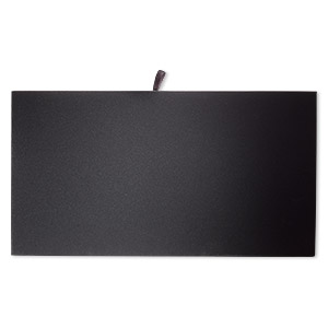 tray insert, velveteen, black, 14 x 7-3/4 inch pad. sold individually.