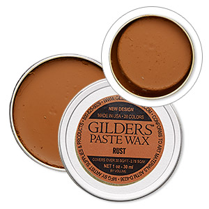 wax paste, gilders paste, rust. sold per 1-ounce canister.