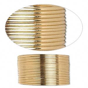 wire, 12kt gold-filled, dead-soft, half-round, 20 gauge. sold per pkg of 5 feet.
