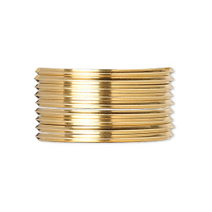 wire, 12kt gold-filled, dead-soft, square, 16 gauge. sold per pkg of 5 feet.