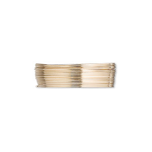 wire, 12kt gold-filled, full-hard, round, 26 gauge. sold per pkg of 25 feet.
