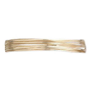 wire, 12kt gold-filled, half-hard, half-round, 22 gauge. sold per pkg of 5 feet.
