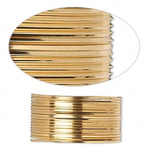 wire, 12kt gold-filled, half-hard, square, 22 gauge. sold per pkg of 5 feet.