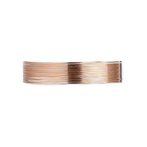 wire, 12kt rose gold-filled, dead-soft, round, 26 gauge. sold per pkg of 25 feet.