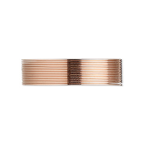 wire, 12kt rose gold-filled, half-hard, round, 24 gauge. sold per pkg of 5 feet.