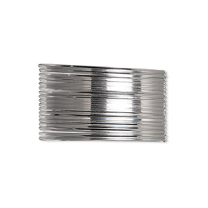 wire, beadalon, stainless steel, 3/4 hard, square, 21 gauge. sold per pkg of 4.5 meters.