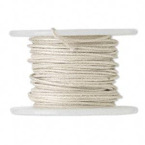 wire, polyester-covered galvanized steel, natural, 1mm wide, 18 gauge. sold per 10-yard spool.
