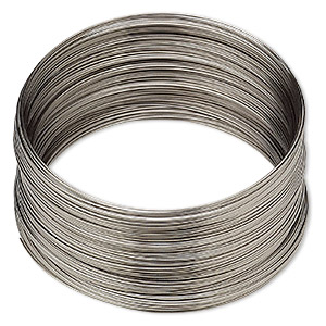 wire, stainless steel, half-hard, round, 28 gauge. sold per pkg of 125 feet.