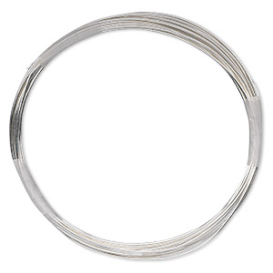 wire, sterling silver-filled, full-hard, round, 22 gauge. sold per 10-foot spool.
