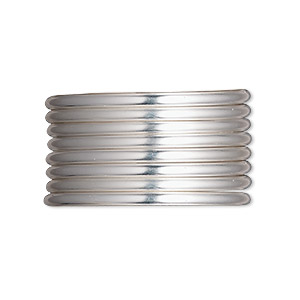 wire, sterling silver-filled, half-hard, round, 12 gauge. sold per pkg of 25 feet.