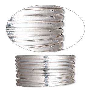 wire, sterling silver-filled, half-hard, round, 16 gauge. sold per pkg of 25 feet.