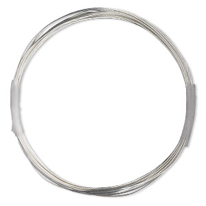 wire, sterling silver-filled, half-hard, round, 24 gauge. sold per 100-foot spool.