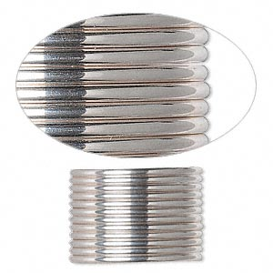 wire, sterling silver, full-hard, half-round, 14 gauge. sold per pkg of 5 feet.