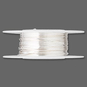 wire, sterling silver, full-hard, round, 22 gauge. sold per 25-foot spool.