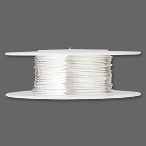wire, sterling silver, full-hard, round, 24 gauge. sold per 25-foot spool.