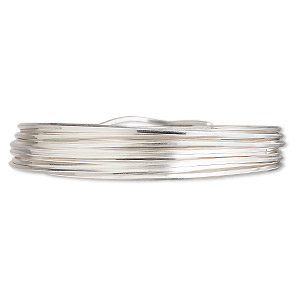 wire, sterling silver, full-hard, square, 20 gauge. sold per pkg of 5 feet.