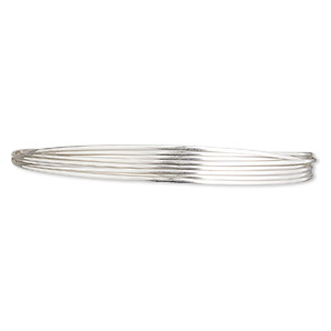 wire, sterling silver, half-hard, half-round, 20 gauge. sold per pkg of 5 feet.