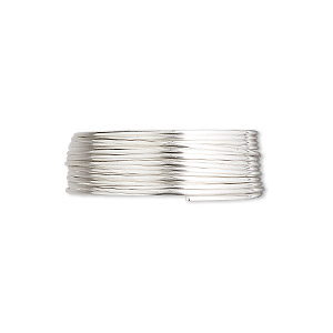 wire, sterling silver, half-hard, half-round, 21 gauge. sold per pkg of 5 feet.